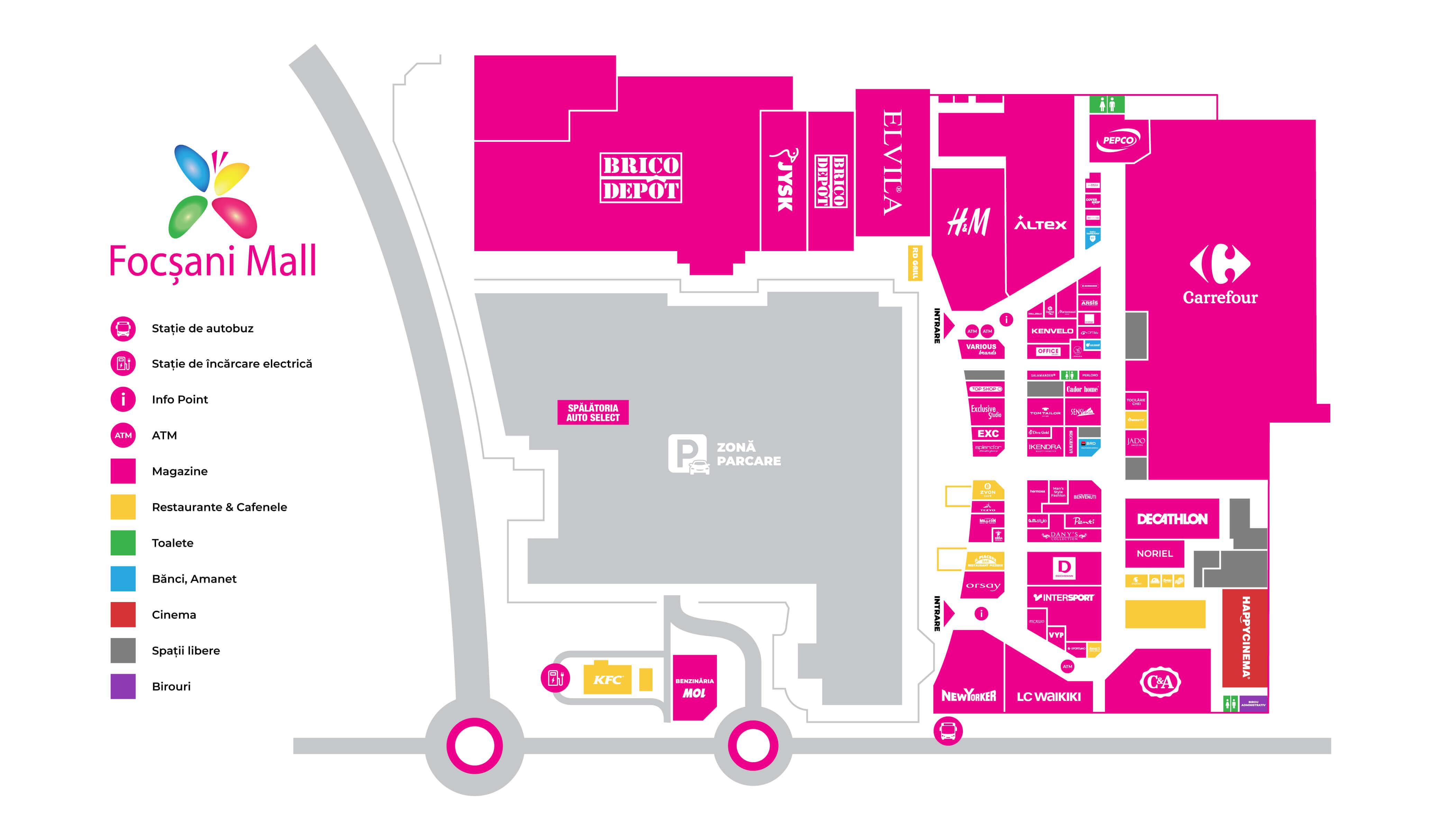 harta focsani mall